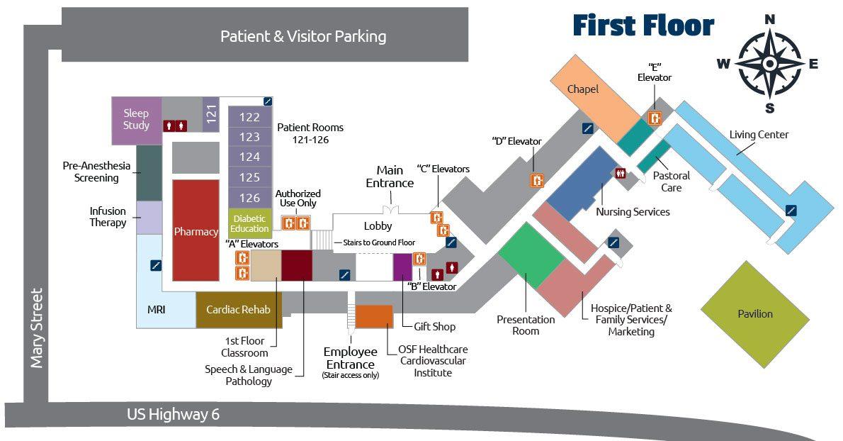 First Floor Map