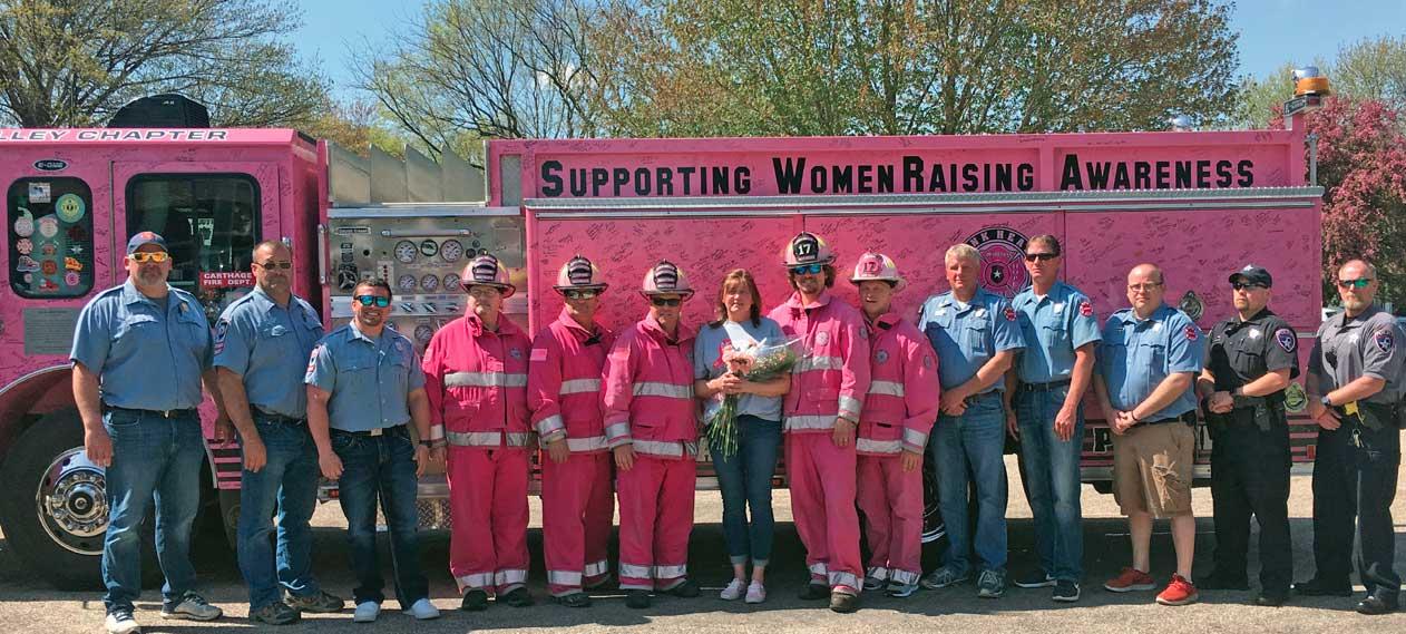 Breast Cancer Bingo Pink Firetruck